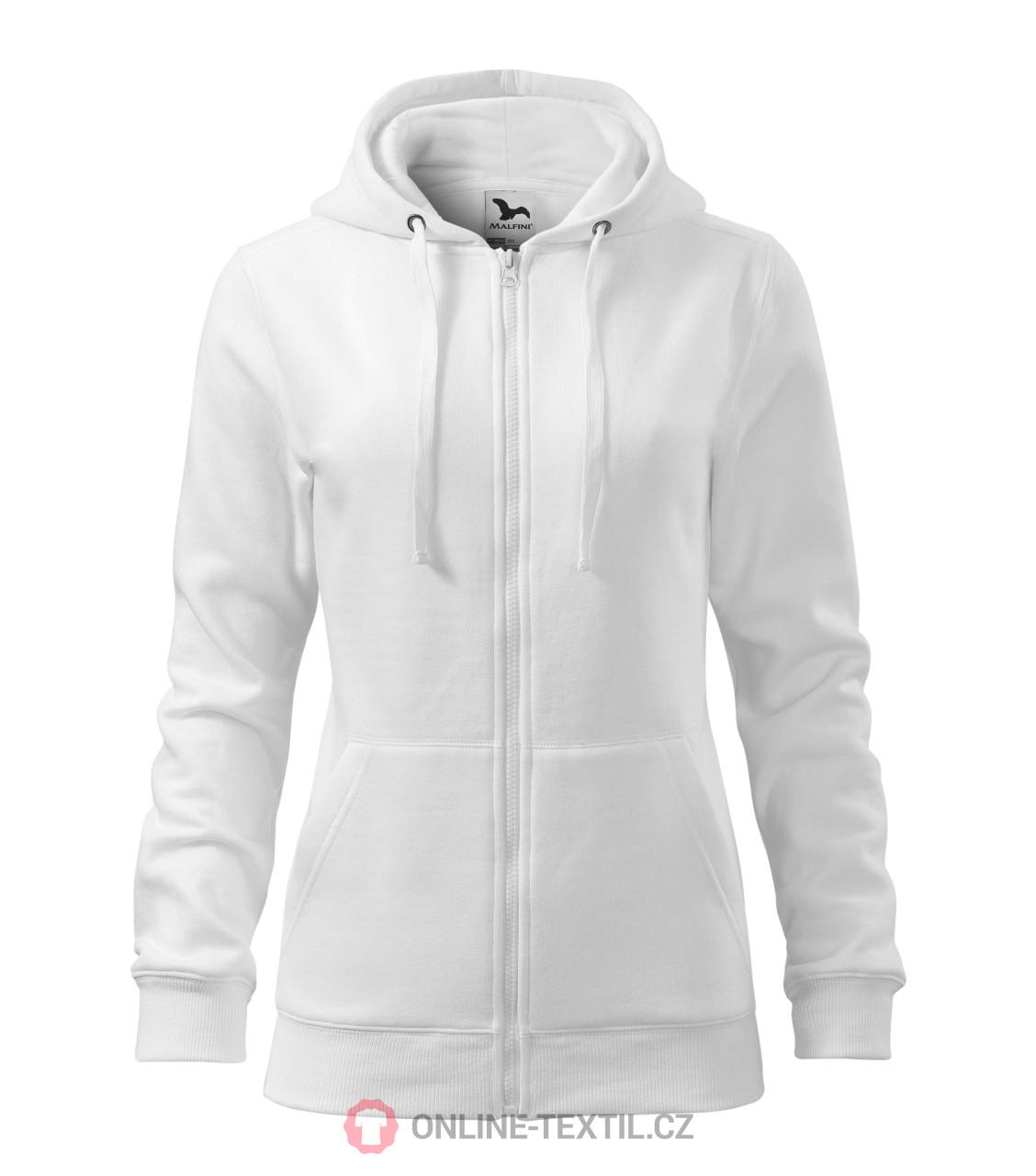 Ladies sweatshirt Trendy Zipper with hood ...
