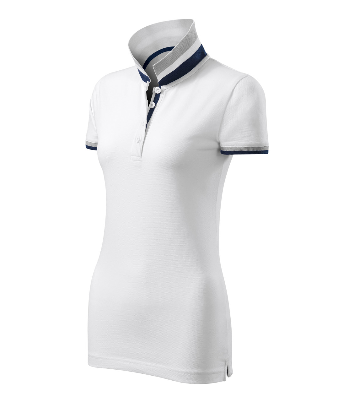 white polo shirt without collar